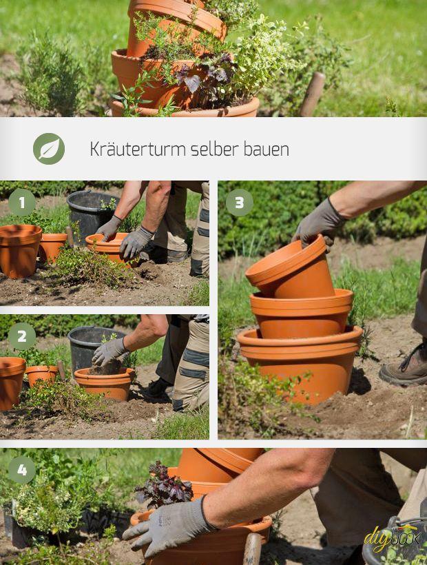 Der Kräuterturm Ist Eine Leichte Alternative Zur Kräuterschnecke Im Garten.  Die Anleitung Zeigt, Wie