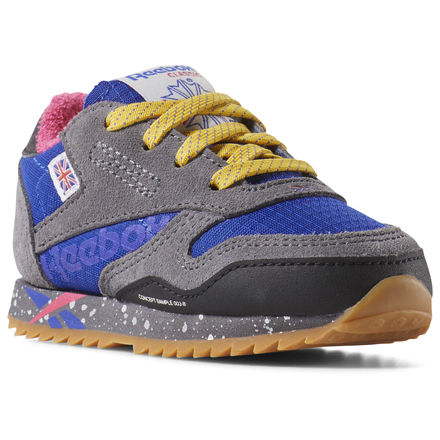 aea35528f9 Reebok Shoes Unisex Classic Leather Ripple Altered - Toddler in Ash ...