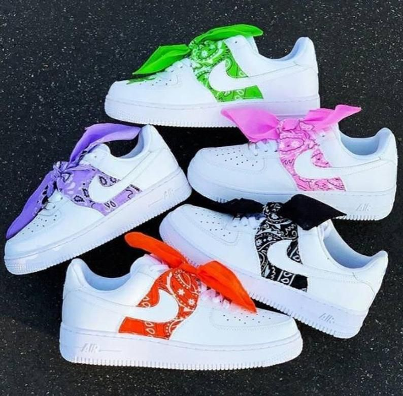Custom Bandana Baby Nike Air Force 1 in 2020 Hype shoes