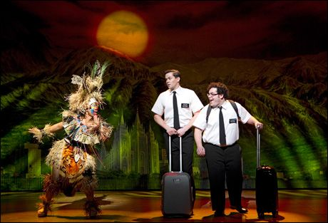 The Book of Mormon, Broadway production.  Rema Webb, Andrew Rannells and Josh Gad.  I wanna see this!