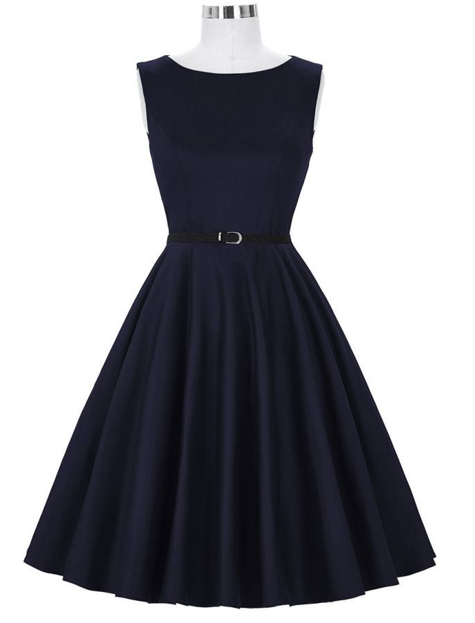 Audrey Hepburn 50s Retro Style Royal Navy Vintage Inspired Swing ...