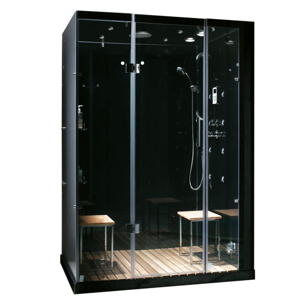 Modern Stylish Steam Shower Enclosure With Multi Body Massage Water Jets Radio Aromatherapy Corner Shower Kits Steam Shower Enclosure Shower Enclosure