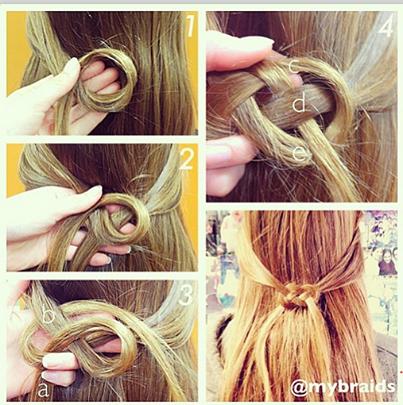 Blog De Romane Tuto Coiffure Noeud Marin De Cheveux Trendy Frisuren Frisuren Flechtfrisuren
