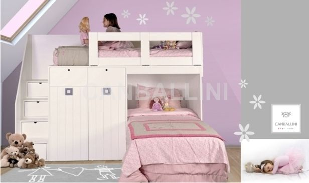 literas para nias con camas en l mobiliario infantil y juvenil de diseo literas