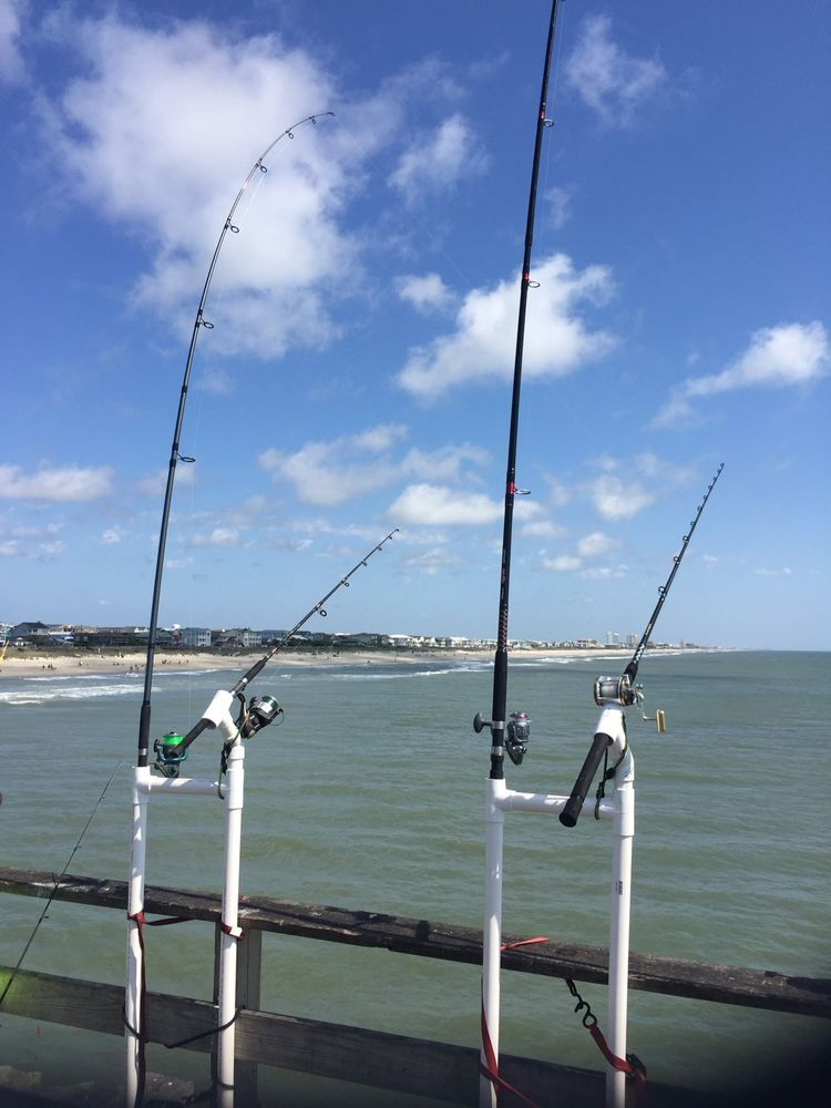 Pier fishing rod holder fishing equipment fish and king for Surf fishing rod holders