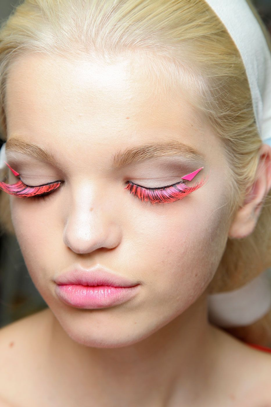 Pink Feathered Lashes If I Could Marry Makeup Pinterest