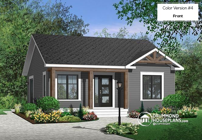 Color version 4 - Front Economical 2 bedroom modern rustic ...