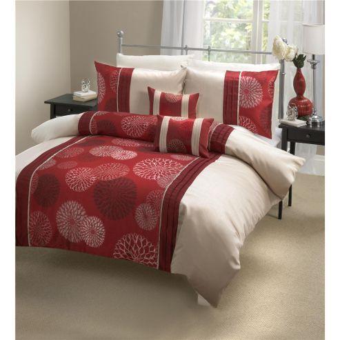 buy dreams n drapes marseille red super king quilt set. Black Bedroom Furniture Sets. Home Design Ideas