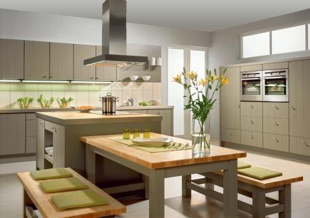 Modern Kitchen Island Dining Table Hybrid Novocom Top