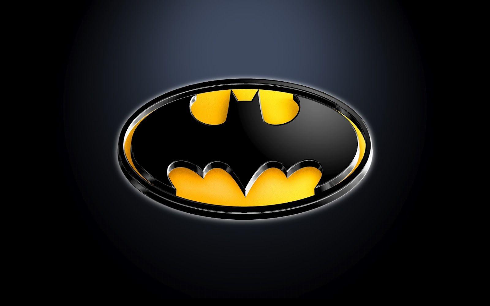 3d Batman Logo Wallpaper Papel De Parede Do Batman Simbolo