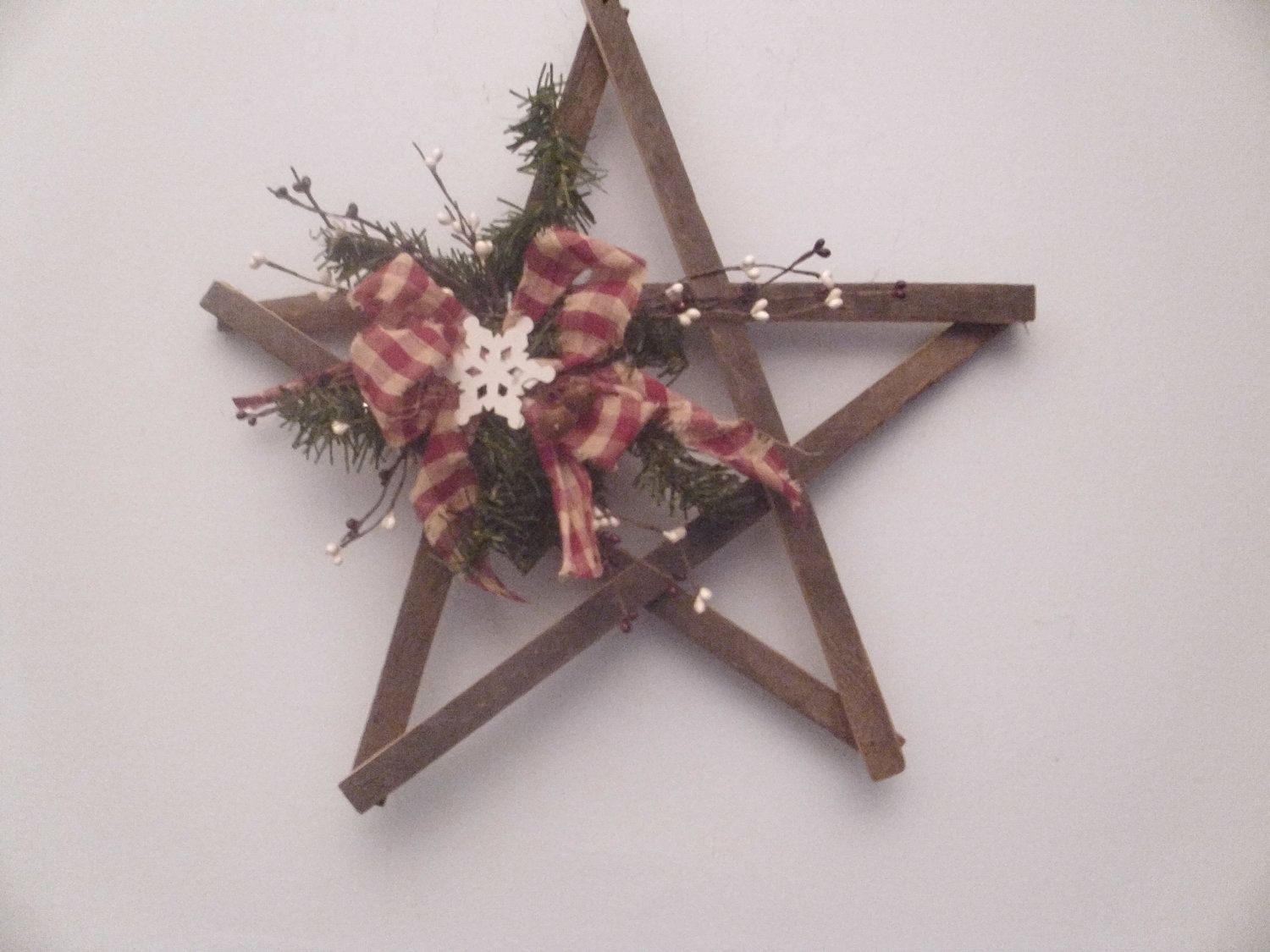 Primitive Lathe Wood Star. $15.00, Via Etsy.