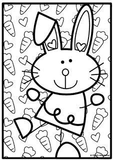 Bunny Rabbit Counting Game Boyama Sayfalari Boyama Kitaplari Ve