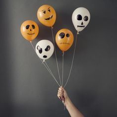 44 Free Halloween Party Games for Adults: Halloween Battle of the Balloons....This is a little bit like flag football but with balloons.