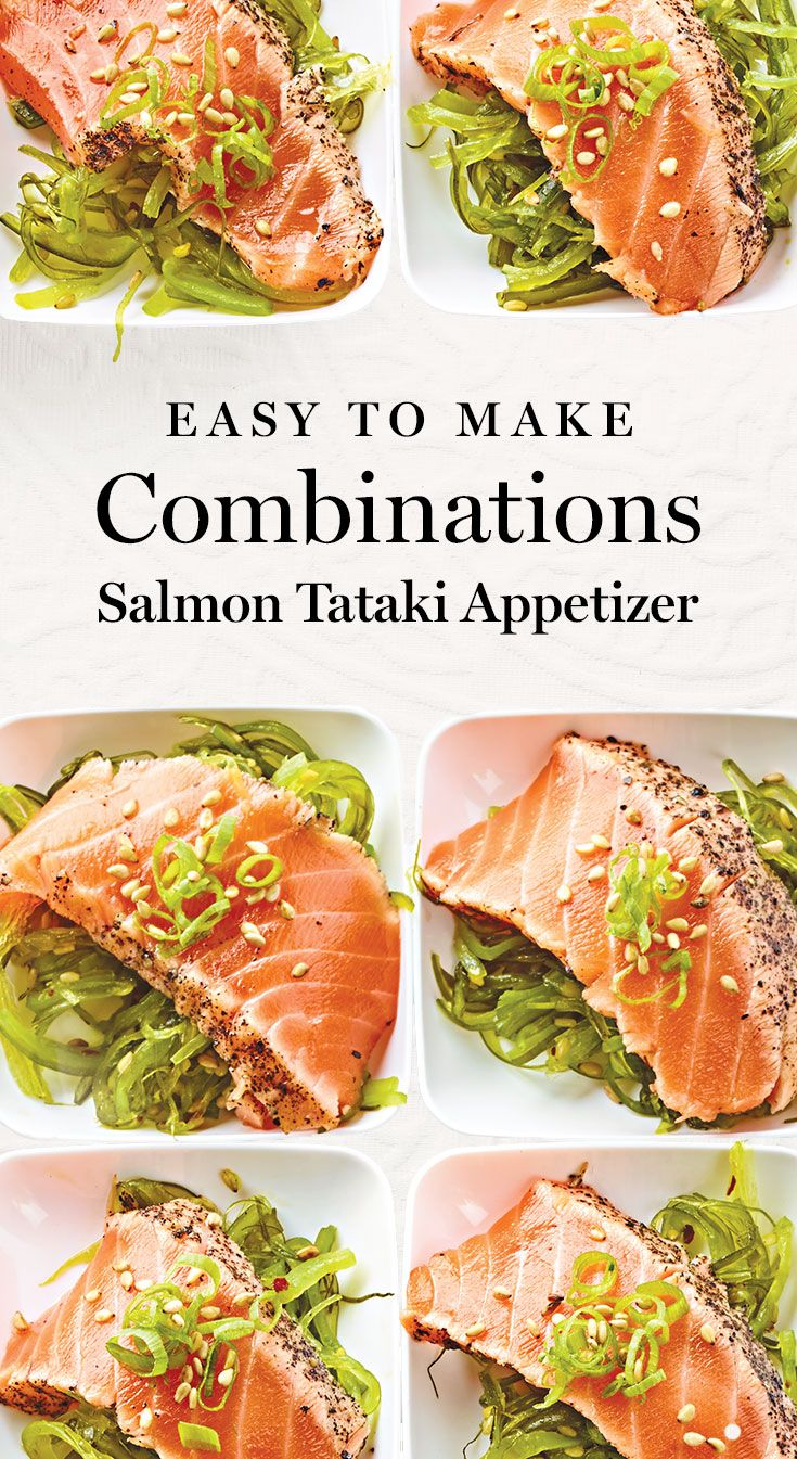 These easy to make Salmon Tataki Appetizers are perfect