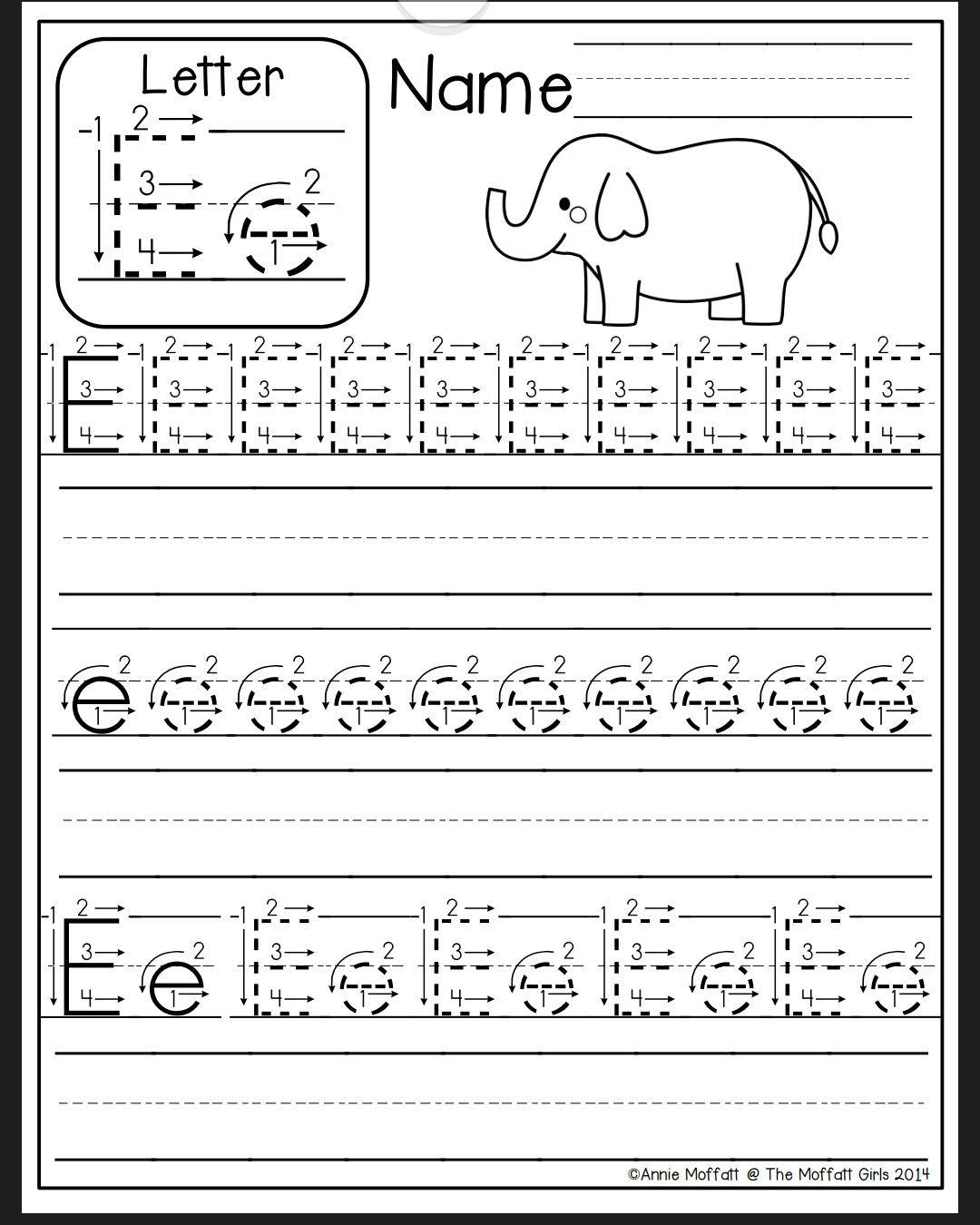Letter E Worksheet Alphabet Writing Practice Alphabet Worksheets Kindergarten Kindergarten Worksheets