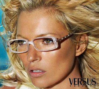 kate moss wearing glasses