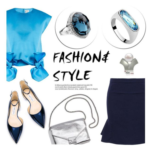"""""""La Mia Cara/Jewelry and Accessories"""" by helenevlacho ❤ liked on Polyvore featuring Maison Rabih Kayrouz and Jimmy Choo"""