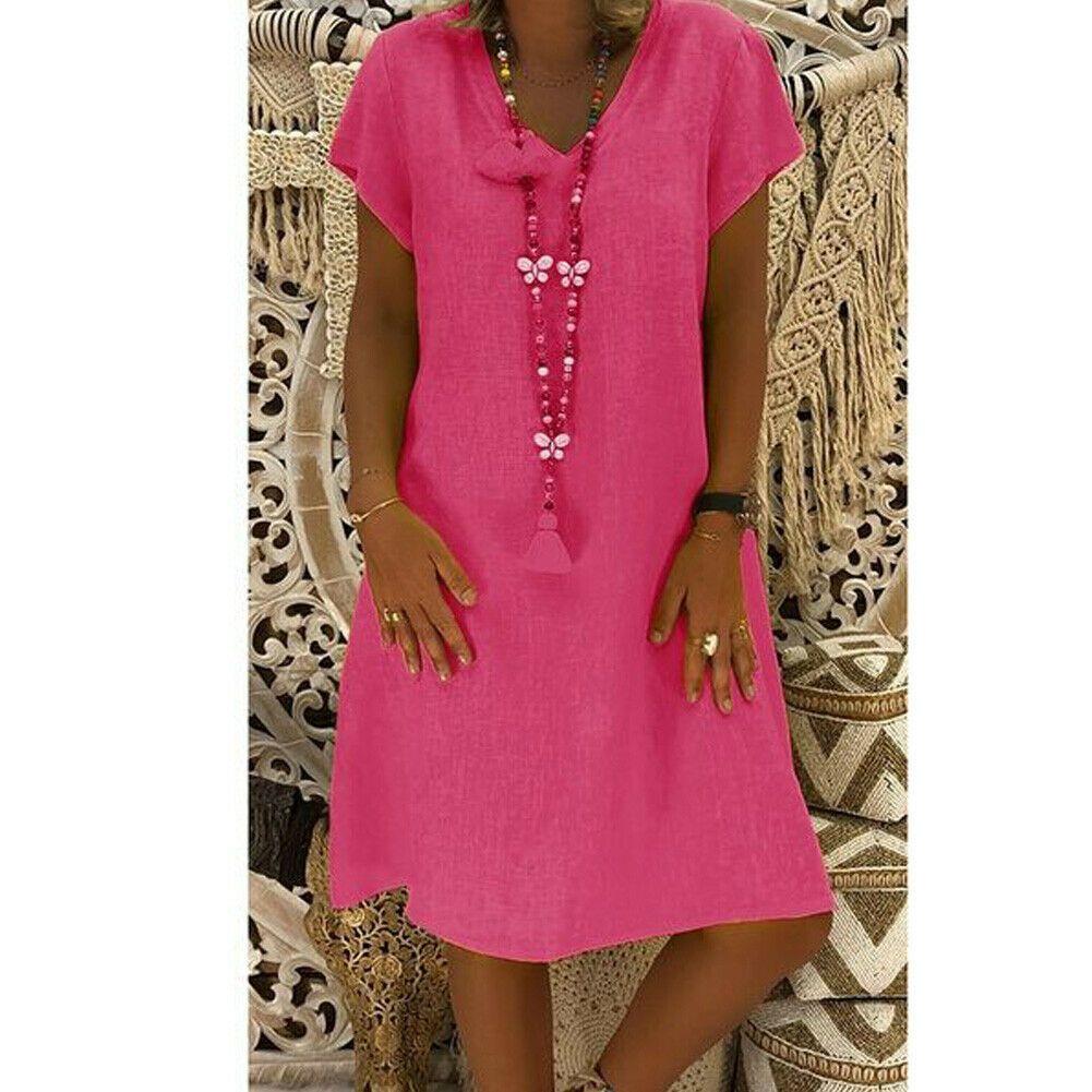 Focusnorm Women S Summer Short Sleeve V Neck Long T Shirt Ladies Casual Dress Boho Dress Walmart Com Loose Short Dresses Midi Short Sleeve Dress Casual Short Sleeve Dress [ 1001 x 1001 Pixel ]