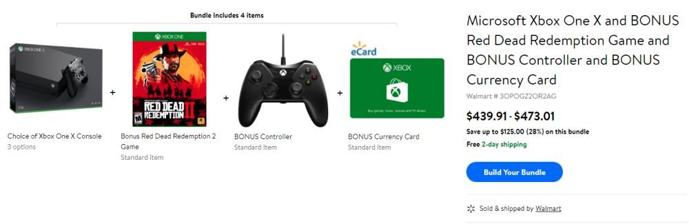 Get Microsoft Xbox One X 1tb Nba 2k19 Bundle Red Dead Redemption 2 Xtra Controller 5 Xbox Gc Only 439