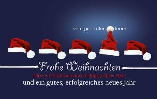 team weihnachtskarte nikolaus team mit deutsch englischem weihnachtsgru weihnachtskarten