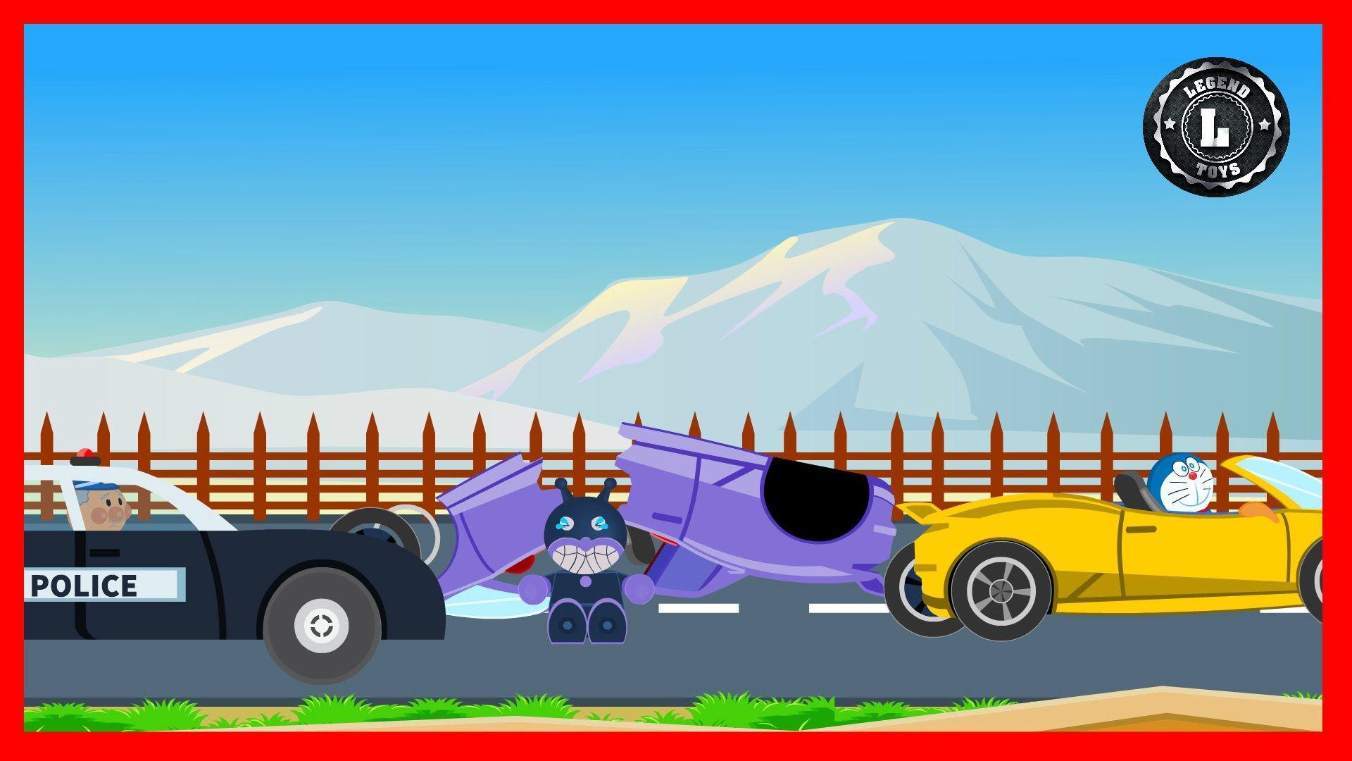 Anpanman Toys Anime Episode 60: Anpanman Ambulance With Accident Car ...