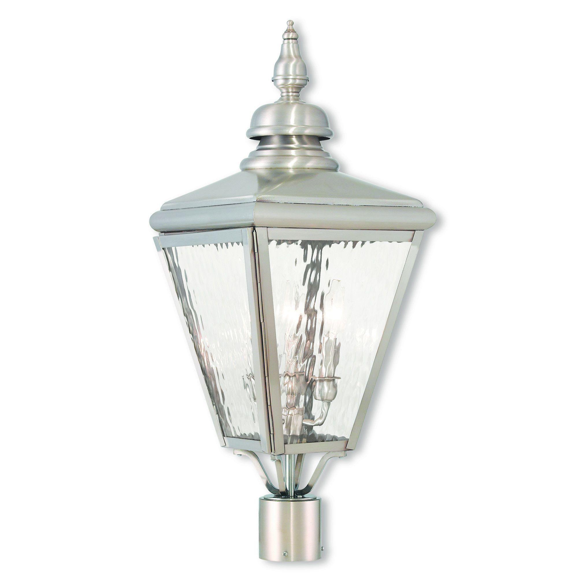 Livex Lighting Cambridge Brushed Nickel Post-Top Lanterm 20433-91