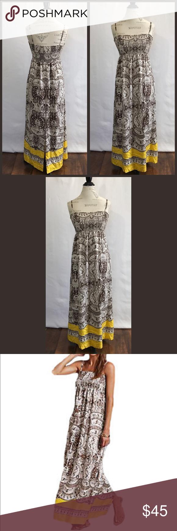 Talbots Silk Bohemian Maxi Dress Bohemian Maxi Dress Clothes Design Fashion Design [ 1740 x 580 Pixel ]