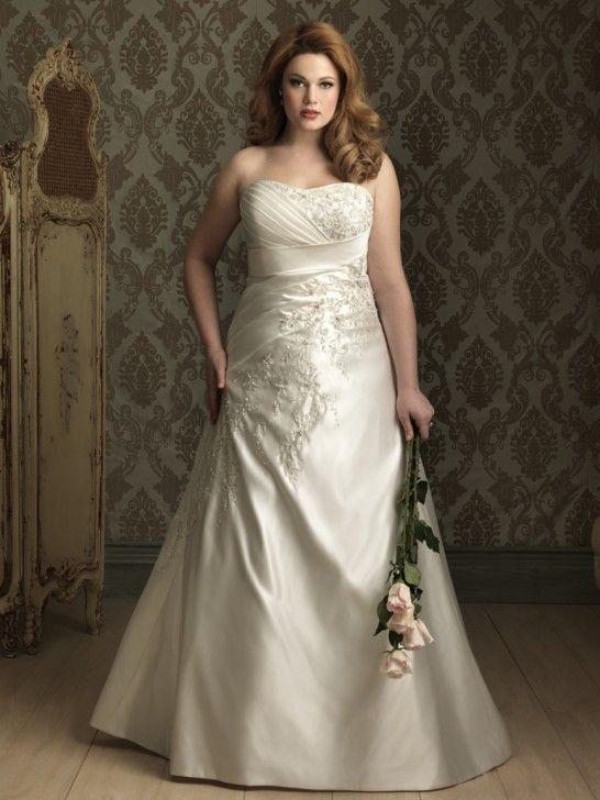 Verkauf Satin A-Linie Aermellos Herz-Ausschnitt Brautkleid ...