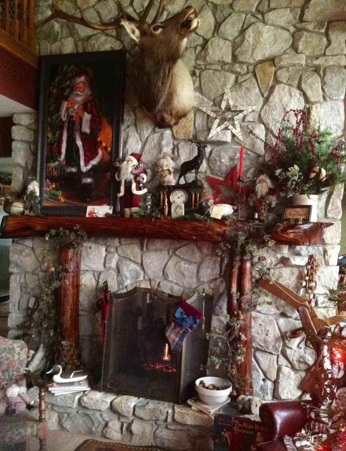 New Post Rustic Christmas Scene