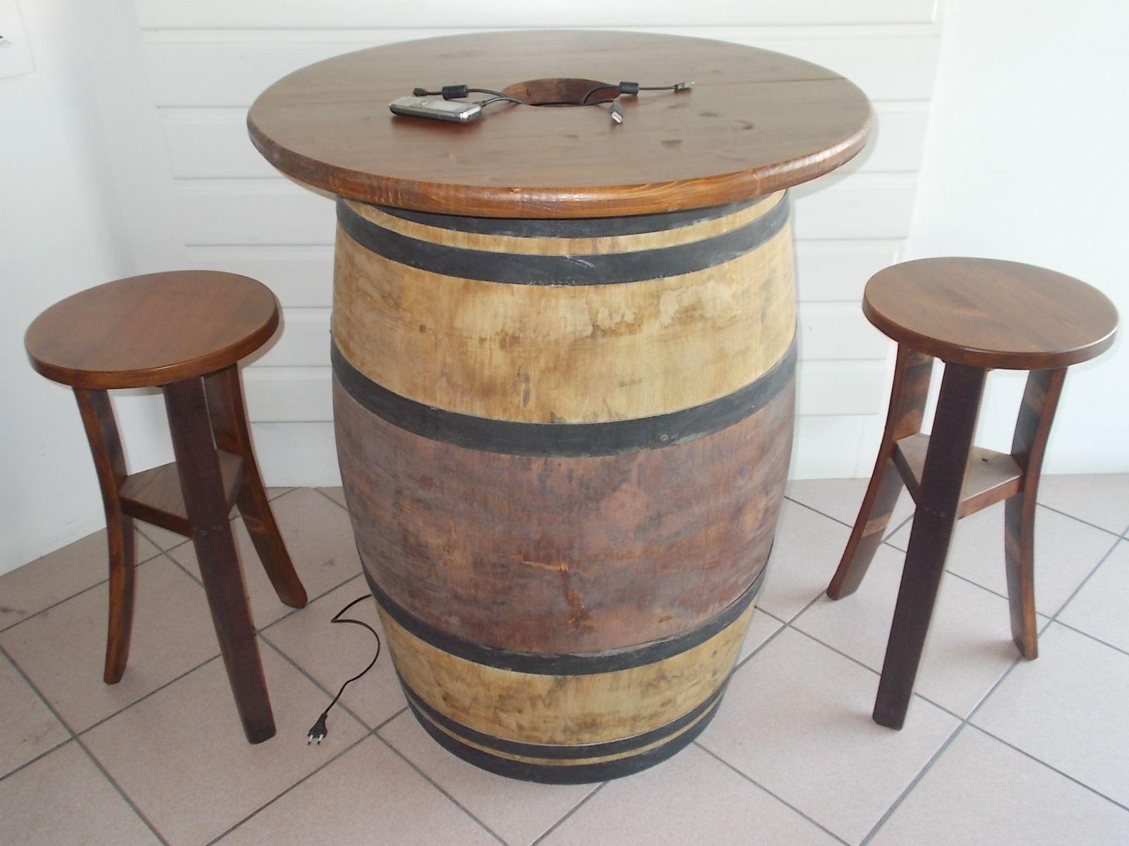Botte Tavolo ~ 1707 tavolo rustico per pub e bar con modulo a presa multipla per