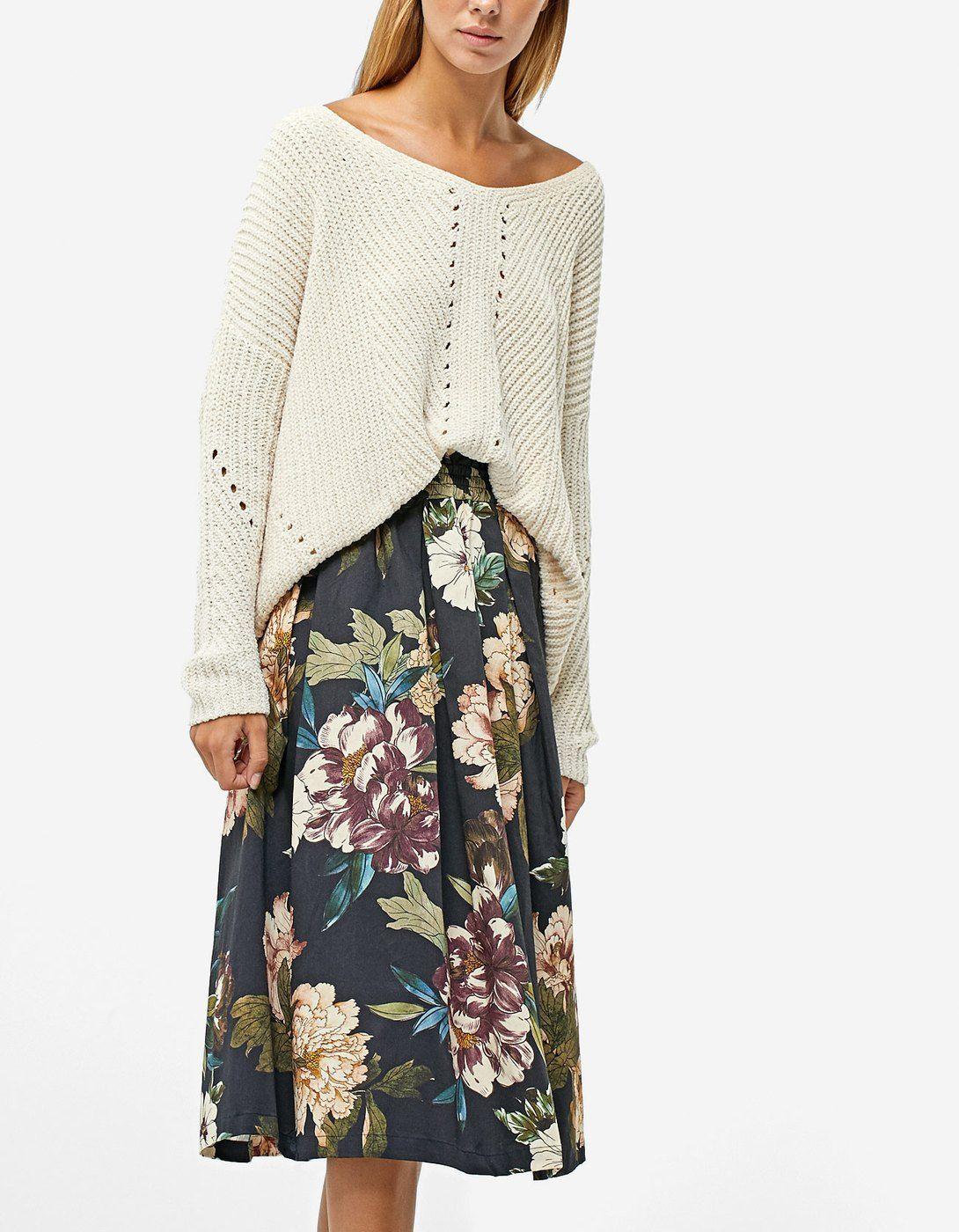 6718ee2bf7 Printed midi skirt - Dresses