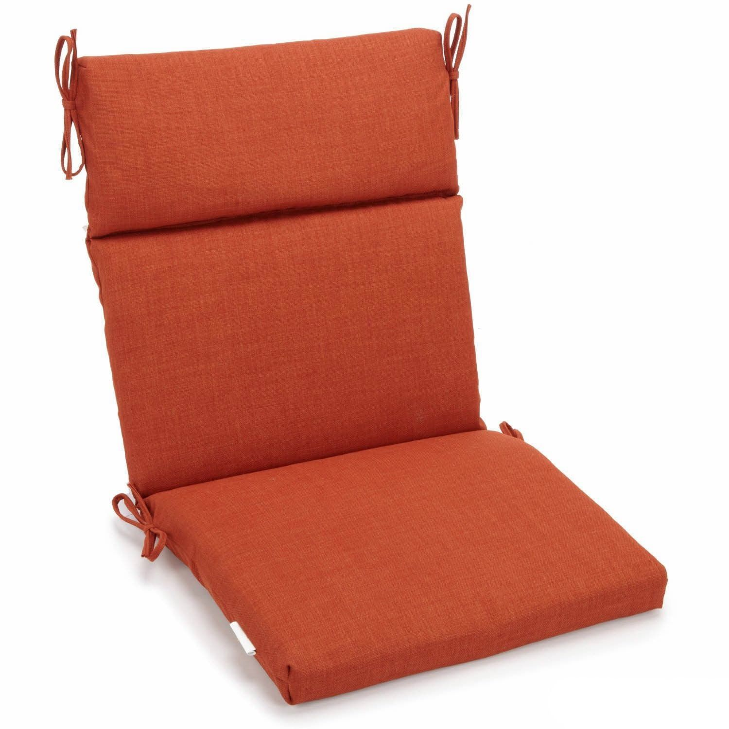 Blazing Needles Seat And Back Outdoor Chair Cushion Cinnamon Red