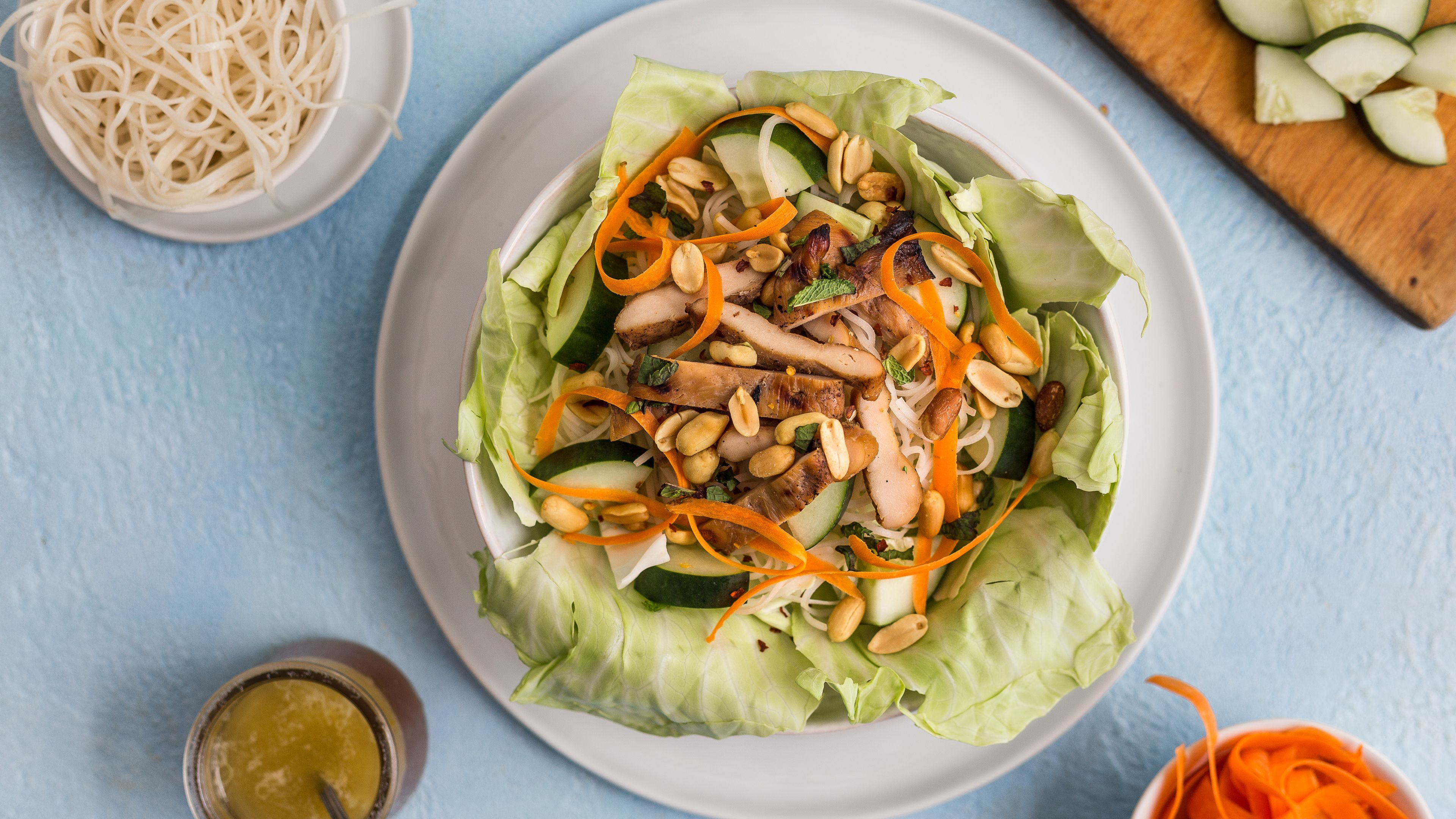 Bun ga nuong grilled chicken and vermicelli salad