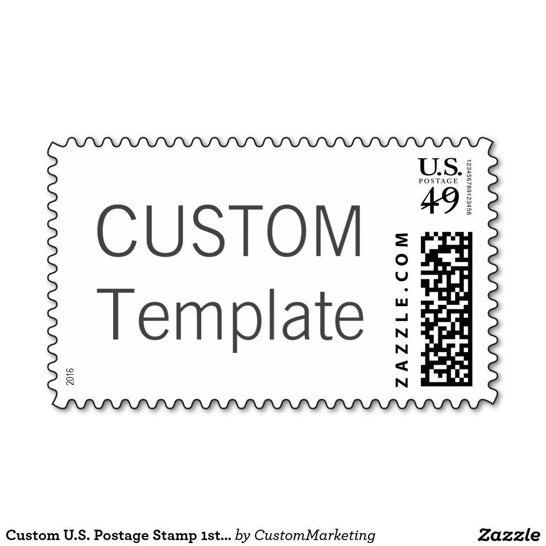Custom U.S. Postage Stamp 1st Class Letter to 1oz