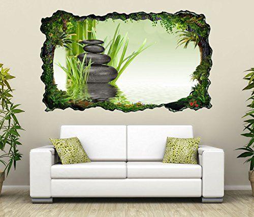 3D Wandtattoo Wellness Zen Steine Bambus Spa Bild selbstklebend ...