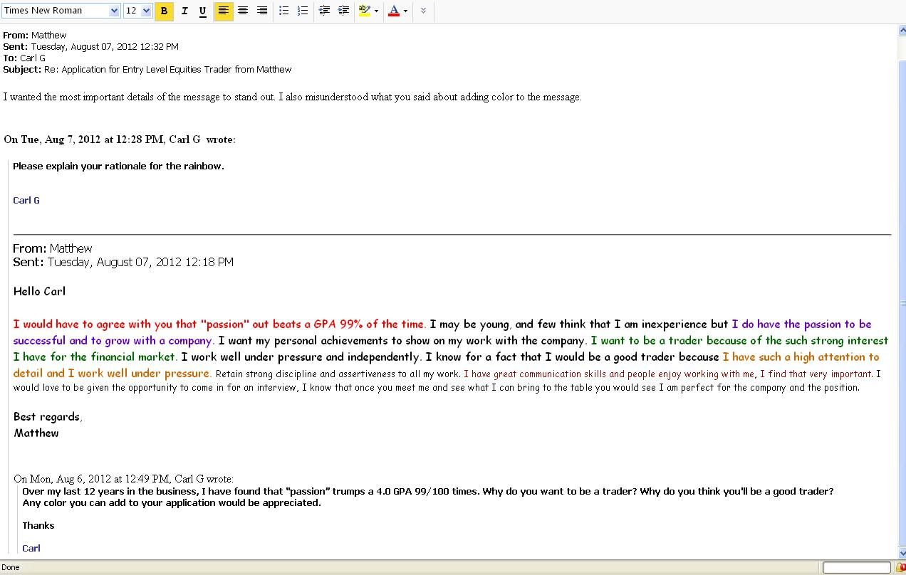 Sample Email To Send Resume Job Applicant Misunderstands Request For 'color' In Funny Way