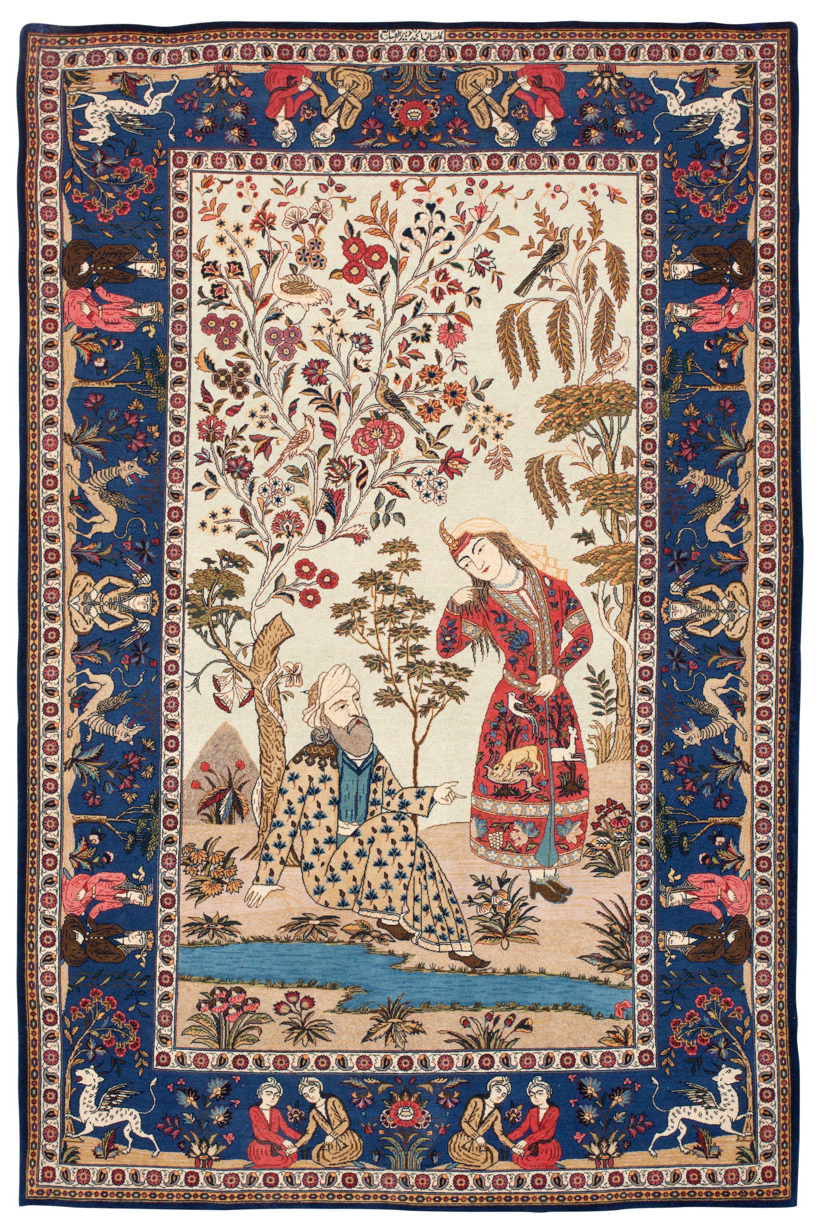 Persian Keshan Rug Carpet Magic Kilim Rugs Bukowski