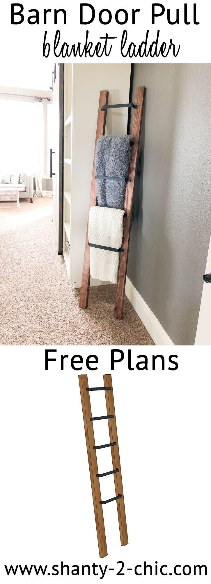 DIY Barn Door Pull Blanket Ladder