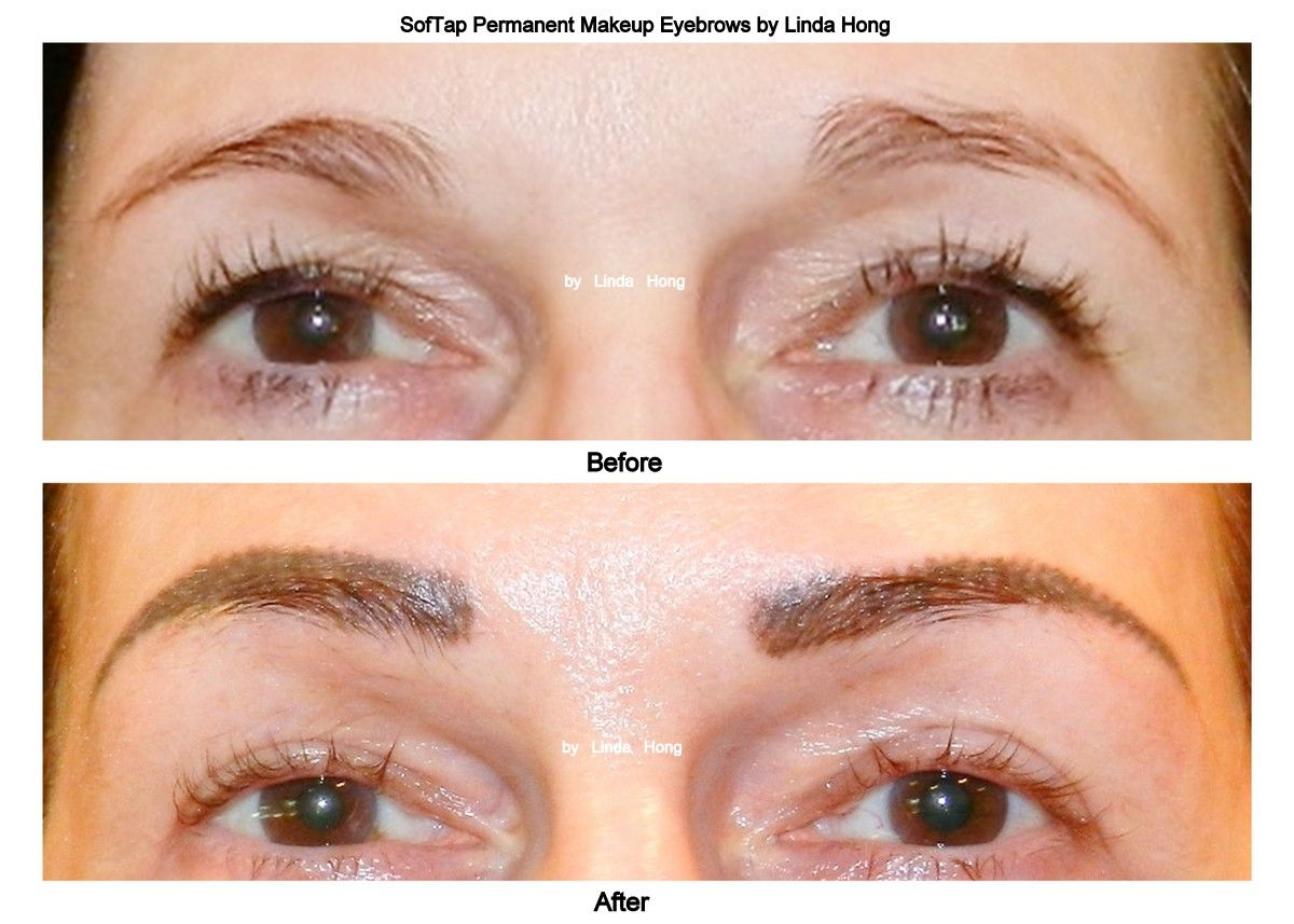 Softap Permanent Makeup Eyebrows Before Photo Brows Hairs Are Very