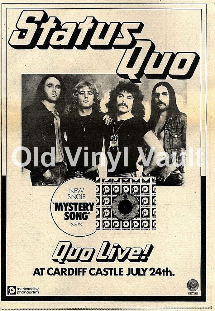 Status Quo Never Say Never Tour Repro POSTER
