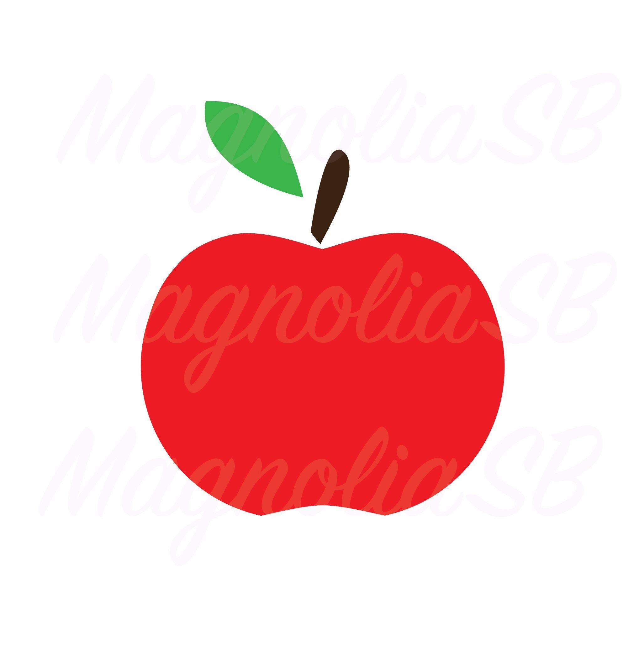 Apple Svg Dxf Apple Png Apple Silhouette Teach Apple Etsy Apple Silhouette Red Apple Dxf