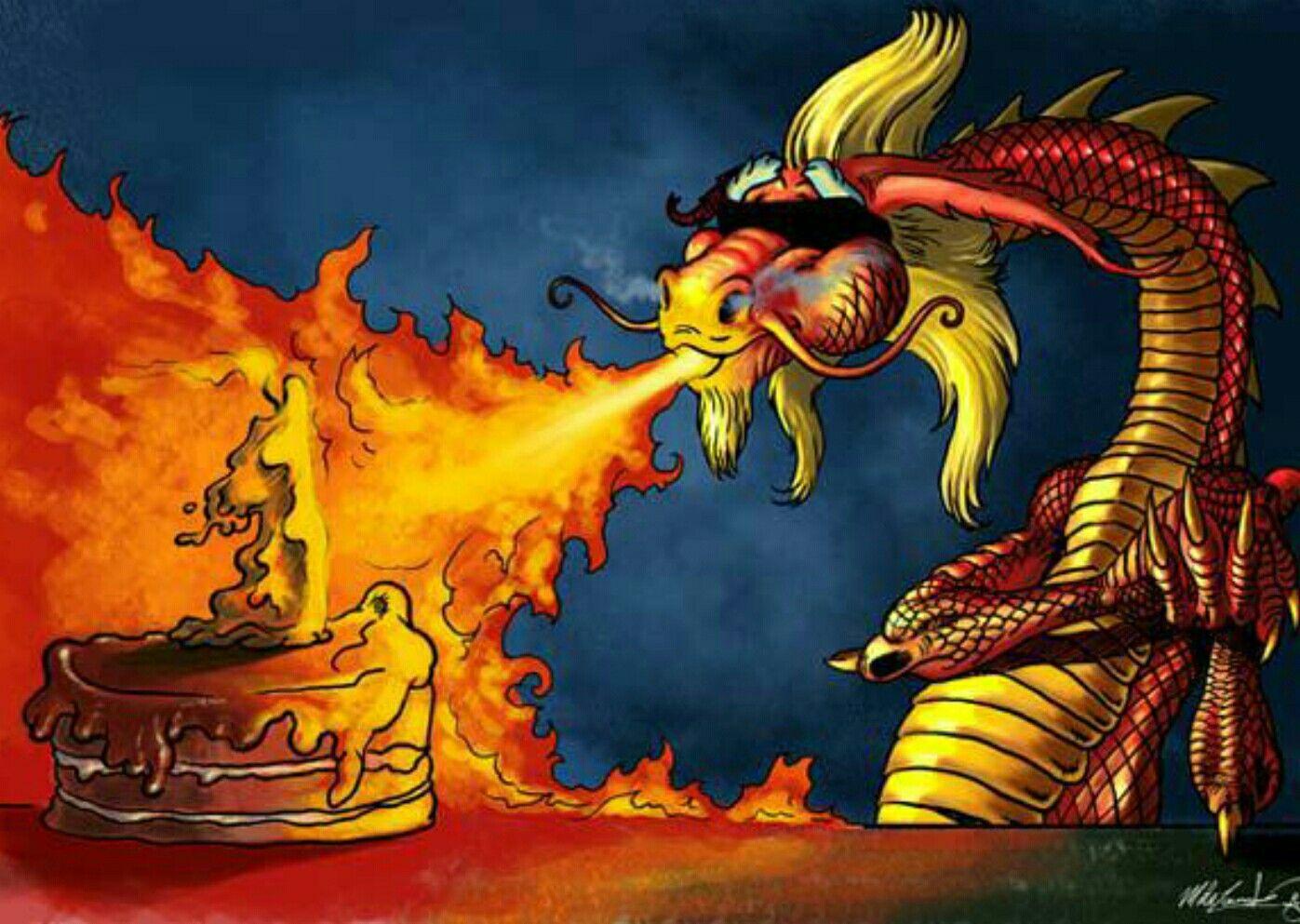 С днем рождения открытка с драконом, своими
