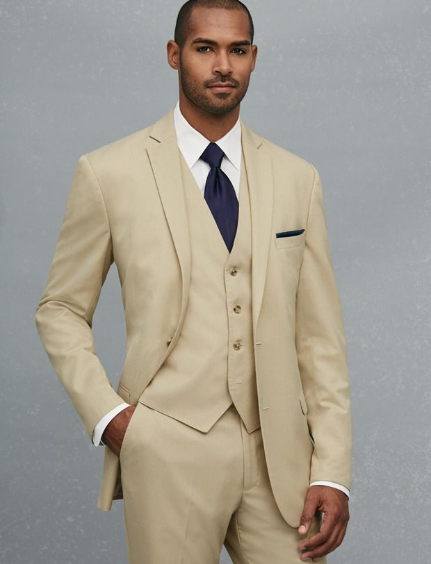 f26b530ea270 New Arrival Two Button Beige Groom Tuxedos Groomsmen Men s Wedding Prom  Suits Custom Made (Jacket+Pants+Vest+Tie) K 180  Affiliate