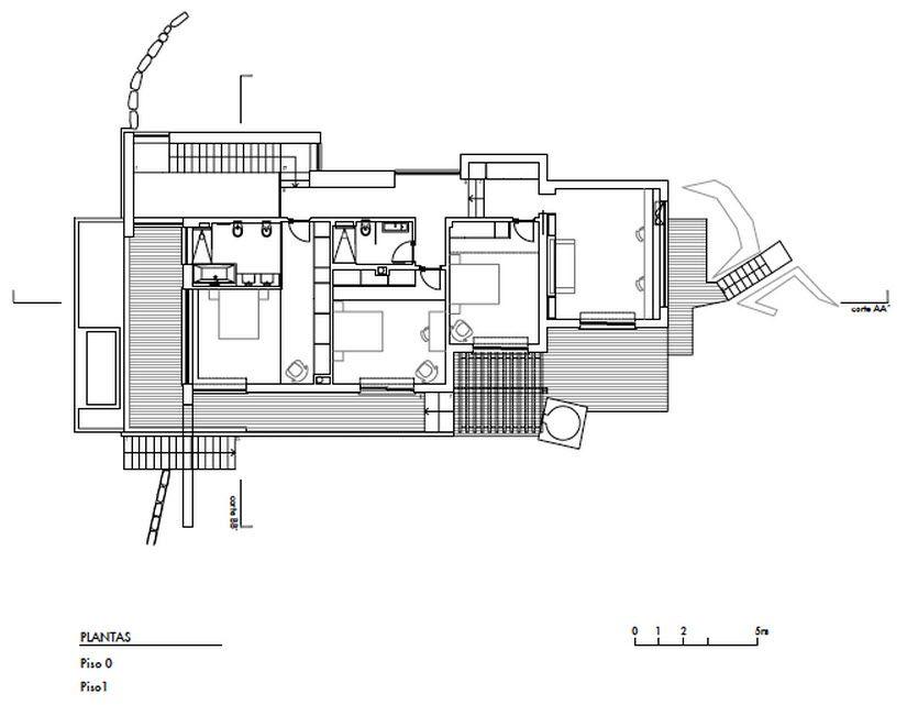 Moderna casa de dos plantas con piscina en la azotea, descubre el