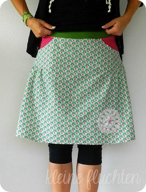 valeska skirt pattern | FALDAS | Pinterest | Nähen, Rock nähen und Rock