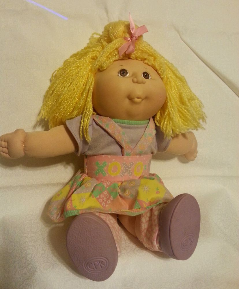 "Vintage Cabbage Patch Kissin Kids 1991 blonde 16"" works with sound and motion #Dolls"