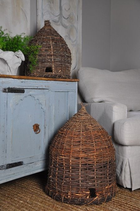 Beehives, Bee Skeps in Gardens and Home Decorating | Stuff