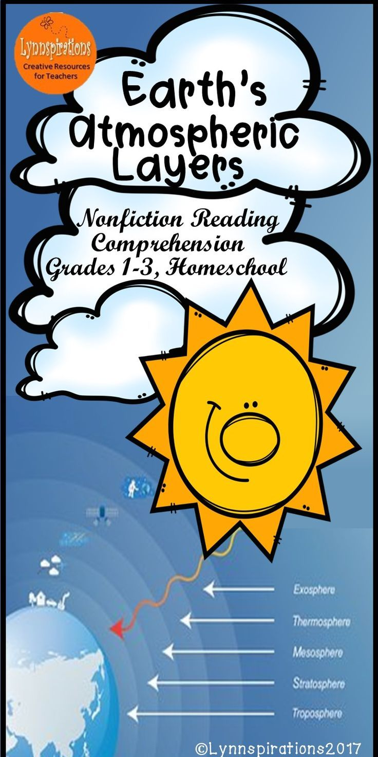Earth\'s Atmospheric Layers Reading Comprehension | TpT Language Arts ...