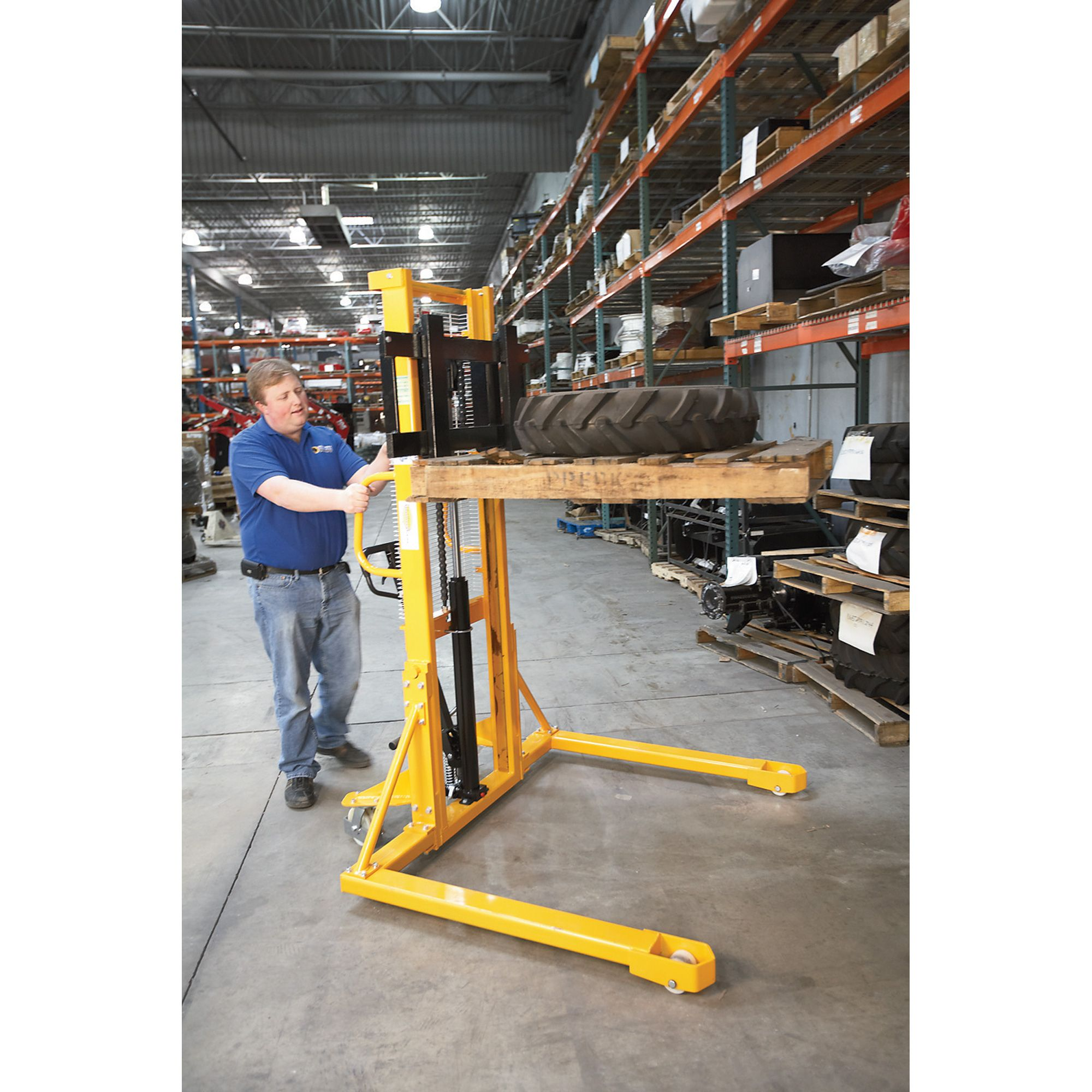 Northern Industrial Tools Manual Pallet Stacker With Fixed Legs Pallet Tools Stackers
