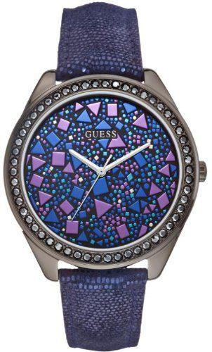 Guess W0055L2 Ladies FRACTURED Blue Watch | WatchCorridor